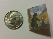 Miniature dollhouse Disney Princess book Barbie 1/12 Scale Brave Merida