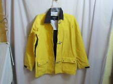 Kids Lands'end Bright Yellow Rain Jacket Boating Large 14-16