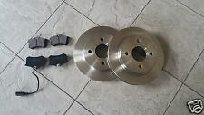 FORD GALAXY MK 2 TDI   00-06  TWO SOLID REAR BRAKE DISCS AND A SET OF BRAKE PADS