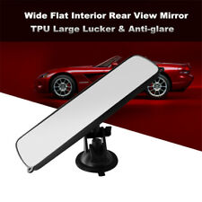 1x Universal Rear View Interior Car Mirror Adjustable Suction Cup Safety Stable