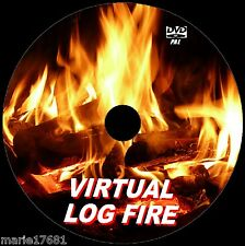 VIRTUAL ROARING LOG FIRE VIDEO DVD 9 WARM FIRE SCENES FOR FLAT SCREEN TVs NEW