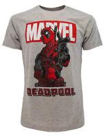 T-shirt Deadpool Originale Grigia Maglia Maglietta Marvel prodotto ufficiale