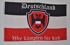 Bandiera REGNO BANDIERA 3974 Nero Bianco Rosso Germania combattiamo per te