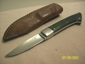 1990's~BATES~CA.~HIGH END CUSTOM RARE CAPING HUNTING KNIFE w/ORIG. CUSTOM SHEATH