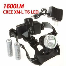 US Waterproof 1600LM CREE XM-L T6 LED Headlamp Headlight 18650 Battery Charger