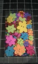 Blumenthal Lansing Flower buttons Box pack Bright Colors Pink Purple red orange