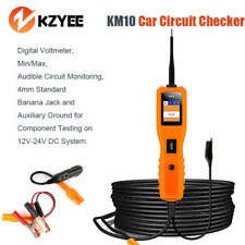 KM10 Car Circuit Tester Electrical Power Probe 12V&24V Voltage Current Tester US