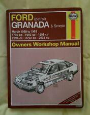 Ford granada & scorpio haynes workshop manual petrol 1985-1993 inc V6