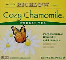 Bigelow Cozy Chamomile Herbal Tea Individually Wrapped Caffeine-Free, 100 Count