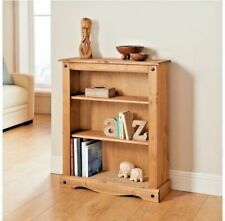 Corona Small / Low Bookcase - Mexican Solid Pine, Rustic, Distressed