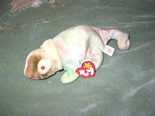 Ty Beanie Babies - Rainbow the Chameleon - lighter tie-dyed version