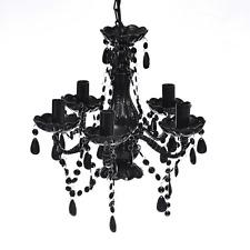 BLACK Chandelier Crystal Light Plafoniere LAMPADINE acrilico illuminazione artificiale