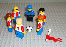 Lego Soccer MINIFIGURES Lot 6 Players People Goalie Soccer Ball Lego Minifigs