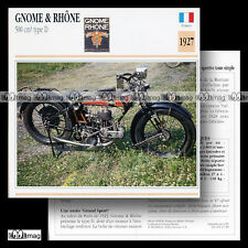 #027.18 GNOME & RHÔNE 500 TYPE D 1927 Fiche Moto Classic Motorcycle Card