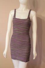 Free People Purple & Gray Bandage Dress XS Extra Small
