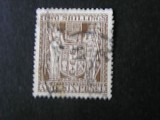 *NEW ZEALAND, SCOTT # AR-48 2/6 VALUE BROWN COAT OF ARMS ISSUE USED