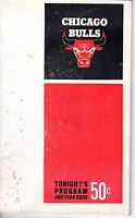 1969-70 Basketball Program, Atlanta Hawks @ Chicago Bulls, unscored
