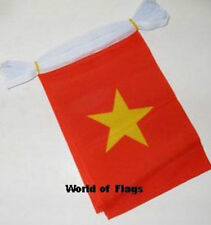VIETNAM FLAG BUNTING Vietnamese 9m 30 Polyester Party Flags Asia Asian