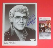 """CARL PERKINS SIGNED VINTAGE 8""""X10"""" PHOTO CERTIFIED AUTHENTIC WITH JSA COA"""