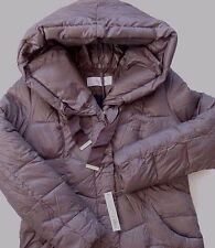 TAHARI DOWN LIGHTWEIGHT PACKABLE HOODED PUFFER COAT w/BAG size LARGE NWT $320