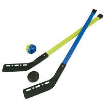 Kinder Streethockey SET Feld Eis Halle Straßen Hockey Spiel 2 Schläger Ball Puck