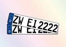 2 Stück KFZ Kennzeichen 52cm x 11cm DIN Autoschilder Nummernschilder 1 Paar Satz
