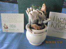 Harmony Kingdom Cookie Jar Cat in Jar UK Made Marble Resin Box Figurine
