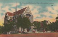 Postcard Independent Presbyterian Church Birmingham Alabama AL