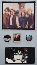 U2 band original official buttons pins badges October & War 1981/1983 Very Rare