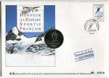 ENVELOPPE OFFICIELLE MONNAIE DE PARIS JO 1992 ALBERTVILLE HONNEUR AUX FRANCAIS