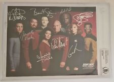 More details for star trek the next generation cast x8 signed photo autographed 10x8 beckett's