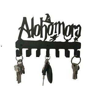 Alohomora Key Holder Harry Potter Wall Decor Metal Art Key Hanger Mounted Hooks