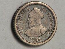 PANAMA 1904 2 1/2 Centesimos 'Panama Pill' Silver