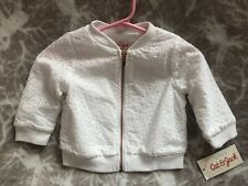 Cat & Jack Baby Girl White Eyelet Jacket Coat outfit 6-9 Month Nwt