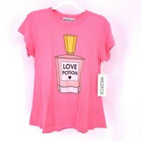 Wildfox T-Shirt Pink Love Potion Short Sleeve Crew Neck Distressed S New