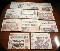 Vintage 90s Detroit Red Wings Stanley Cup Championship Newspaper Section Lot NHL