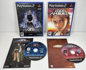 Lara Croft Tomb Raider The Angel of Darkness & Legend PS2 Games PlayStation 2