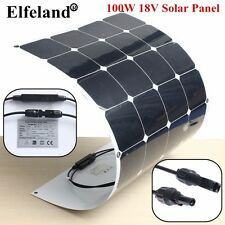 100W 18V Semi Flexible Mono Solar Panel Battery Charger For Caravan Boat Home