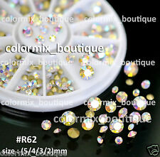 #R62 Nail Art Decoration 4 Sizes Sharp Bottom Multicolor Glitter Rhinestones