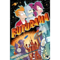 Futurama Cartoon Anime Art Silk Poster 13x20 24x36 inch 004