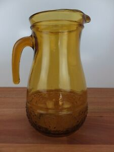 Vintage Retro Amber Glass Jug made in Italy
