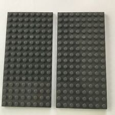 100 x LEGO® Platten 8x8 Noppen hellgrau grau beidseitig bebaubar