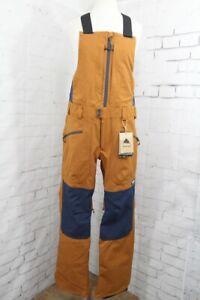 Burton Reserve Bib Snowboard Pants, Men's Small, True Penny Brown New