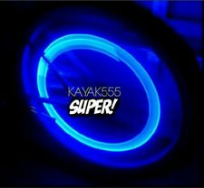 4 X BLUE LED VALVE STEM TIRE LIGHTS CAPS TRICK UR TRUCK VAN ETC.. PIMPED OUT