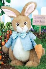 Bearington Bears Ben Munchin Plush Bunny Rabbit in Blue Shirt and Bow Tie
