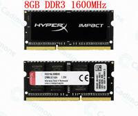 Pour Kingston HyperX 8 Go 16 Go 32 Go 1600 MHz DDR3L PC3L-12800S SO-DIMM RAM Lot