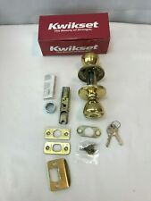Kwikset 400T Tylo Entry Door Lock Set Polished Brass