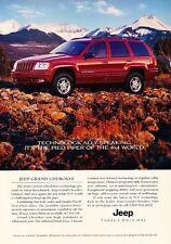 2000 2001 Jeep Grand Cherokee Original Advertisement Print Art Car Ad J655