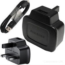 SAMSUNG ETAOU71XBE MAINS CHARGER PLUG + MICRO USB DATA CABLE BLACK