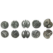 Norse Foundry RPG D20 Adventure Coins Variety Gold Piece Set of 10 Sci-Fi Star